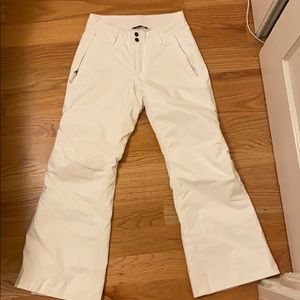 White North Face Women's Snow Pants